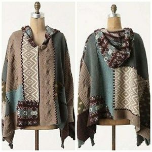 Beautiful quilted hooded cape